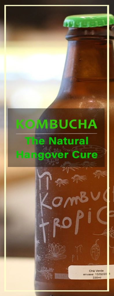 cure hangover with kombucha tea