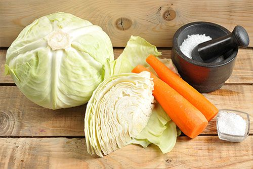 homemade-sauerkraut-recipe-cabbage-carrots-salt
