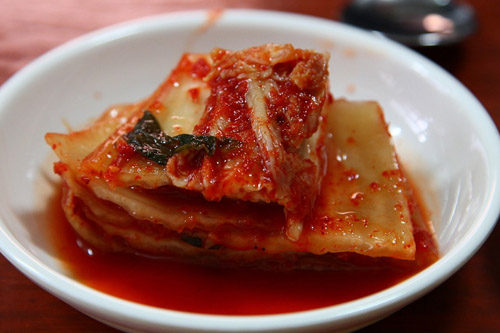 What is a good substitute for salted shrimp when making kimchi
