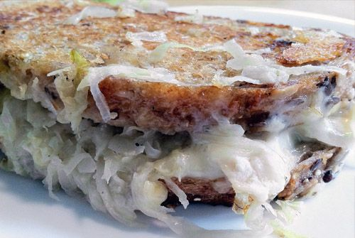sauerkraut and grilled cheese sandwich
